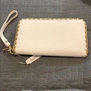 Aldo white wallet